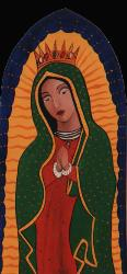 Guadalupe, folkart, print, reproduction of Guadalupe